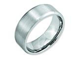 <b>Engravable</b> Chisel Cobalt Beveled Edge Satin 8mm Wedding Band style: CC15