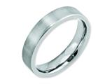 <b>Engravable</b> Chisel Cobalt Flat Satin 5mm Weeding Band style: CC16