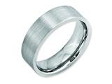 <b>Engravable</b> Chisel Cobalt Flat Satin 7mm Weeding Band style: CC18