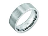 <b>Engravable</b> Chisel Cobalt Flat Satin 8mm Weeding Band style: CC19