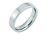 <b>Engravable</b> Chisel Cobalt Flat Polished 5mm Weeding Band style: CC20