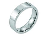 <b>Engravable</b> Chisel Cobalt Flat Polished 6mm Wedding Band style: CC21