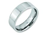 Chisel Cobalt Flat Polished 7mm Weeding Band style: CC22