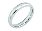 <b>Engravable</b> Chisel Cobalt Polished 4mm Weeding Band style: CC24