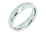 <b>Engravable</b> Chisel Cobalt Polished 5mm Weeding Band style: CC25