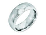 <b>Engravable</b> Chisel Cobalt Polished 8mm Wedding Band style: CC28