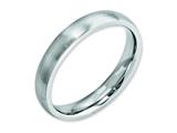 <b>Engravable</b> Chisel Cobalt Satin 4mm Wedding Band style: CC29