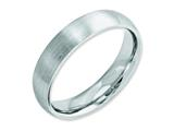 <b>Engravable</b> Chisel Cobalt Satin 5mm Wedding Band style: CC30