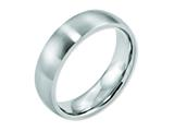 <b>Engravable</b> Chisel Cobalt Satin 6mm Wedding Band style: CC31
