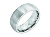 <b>Engravable</b> Chisel Cobalt Satin 8mm Wedding Band style: CC33