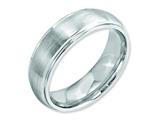 Chisel Cobalt Satin And Polished 7mm Ridged Edge Weeding Band style: CC40