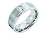 Chisel Cobalt Satin And Polished Ridged Edge 8mm Weeding Band style: CC42