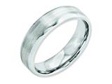 Chisel Cobalt Sterling Silver Inlay Satin/polished 6mm Beveled Edge Weeding Band style: CC44