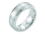 <b>Engravable</b> Chisel Cobalt Sterling Silver Inlay Satin And Polished 8mm Weeding Band style: CC50