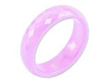 Chisel Ceramic Pink Faceted 6mm Polished Weeding Band style: CER17