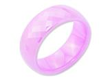 Chisel Ceramic Pink Faceted 7.5mm Polished Weeding Band style: CER30