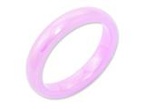 Chisel Ceramic Pink 4mm Polished Weeding Band style: CER32