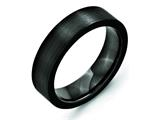 Chisel Black Ceramic Flat 6mm Brushed Weeding Band style: CER38