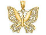 Finejewelers 14k Yellow Gold Polished Butterfly Charm style: D4471