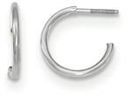 14k White Gold Childrens Screw Back Hoop Earrings Style number: GK892