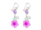 Finejewelers Sterling Silver Amethyst/agate/blue Topaz Flower Earrings Style number: QE1306