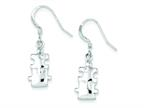 Finejewelers Sterling Silver Polished Cubic Zirconia Puzzle Pieces Dangle Earrings Style number: QE8793