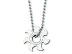 Chisel Stainless Steel Sun Burst Necklace - 22 inches Style number: SRN141