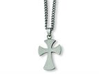 Chisel Stainless Steel Cross Necklace - 22 inches Style number: SRN169