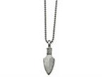 Chisel Stainless Steel Polished/brushed Arrow Head Necklace Style number: SRN203622