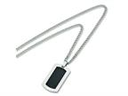 Chisel Titanium Carbon Fiber Dog Tag Necklace - 24 inche Stainless Steel Chain Style number: TBN112
