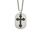 Chisel Titanium Black Plated Moveable Cross Necklace - 22 inche Stainless steel chain Style number: TBN114
