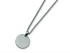 Chisel Titanium Brushed Round Necklace - 22 inche Stainless steel chain Style number: TBN116