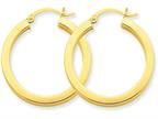 Finejewelers 14k Yellow Gold 3mm Polished Square Hoop Earrings Style number: TE538