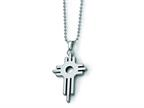 Chisel Tungsten Cross Necklace - 22 inches Style number: TUN102
