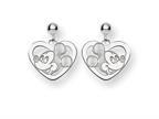 Disney Mickey Heart Dangle Post Earrings Style number: WD107SS