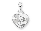 Disney Mickey Heart Lobster Clasp Charm Style number: WD109SS