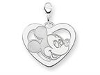 Disney Mickey Heart Lobster Clasp Charm Style number: WD111SS