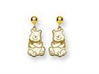 Disney Winnie the Pooh Dangle Post Earrings Style number: WD164GP