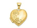 Finejewelers 14k Domed Heart Locket Pendant Necklace 18 inch chain included Style number: XL135