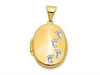 Finejewelers 14k Footprints Locket Pendant Necklace 18 inch chain included Style number: XL300