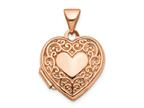 Finejewelers 14k Rose Gold 15mm Scroll Heart Locket Pendant Necklace 18 inch chain included Style number: XL657