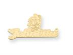 Personalized Disney Minnie Mouse Nameplate (up to 9 Letters) - Chain Included Style number: XNA463GP