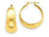 14k Polished 10.5mm Tapered Hoop Earrings style: E674