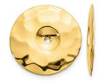 Finejewelers 14k Yellow Gold Polished Hammered Disc Earring Jackets style: E895J