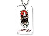 Ed Hardy Eagle and Skull Dog Tag Painted Necklace style: EHF103