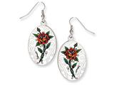 Ed Hardy Oval Rose Painted Earrings style: EHF105