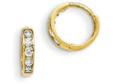 "14k Madi K CZ Children""s Hinged Hoop Earrings style: GK649"