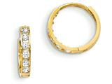 "14k Madi K CZ Children""s Hinged Hoop Earrings style: GK650"