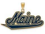 Logoart Sterling Silver Gp University Of Maine Extra Large  Enamel Pendant style: GP004UME