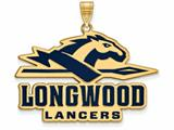 Logoart Sterling Silver Gp Longwood University Extra Large  Enamel Pendant style: GP013LOC